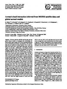 Aerosol-cloud interaction inferred from MODIS satellite data and ...