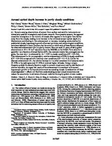 Aerosol optical depth increase in partly cloudy ... - Wiley Online Library