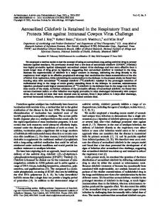 Aerosolized Cidofovir Is Retained in the Respiratory Tract and Protects ...
