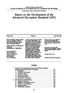 AES - NIST Page