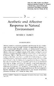 Aesthetic and Affective Response to Natural ...