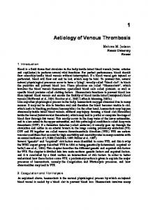 Aetiology of Venous Thrombosis