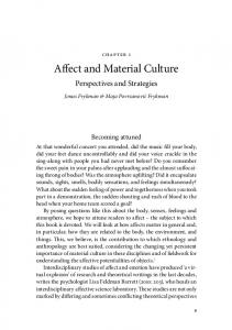 Affect and Material Culture