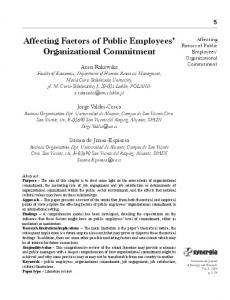 Affecting Factors of Public Employees' Organizational ... - ToKnowPress