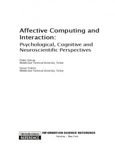 Affective Computing and Interaction: