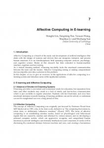 Affective Computing in E-learning