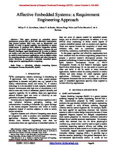 Affective Embedded Systems: a Requirement ... - Semantic Scholar