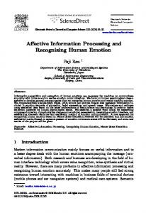 Affective Information Processing and Recognizing ... - Semantic Scholar