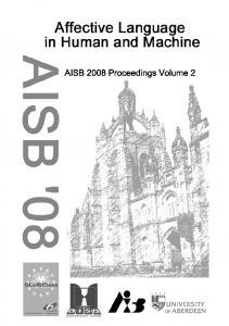 Affective Language in Human and Machine - AISB