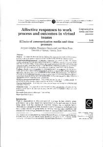 Affective responses to work