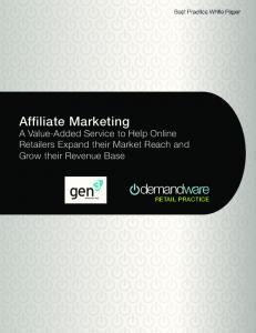 Affiliate Marketing - gen3marketing