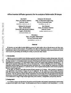 Affine-invariant diffusion geometry for the analysis of deformable 3D ...
