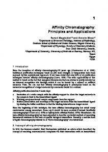 Affinity Chromatography: Principles and Applications