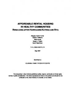 affordable rental housing in healthy communities