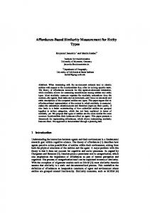 Affordance-Based Similarity Measurement for ... - UCSB Geography