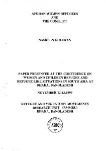 afghan women refugees and the conflict nasreen