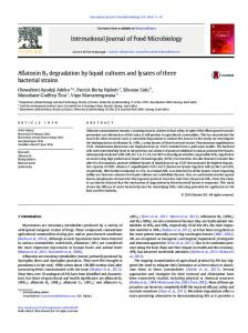 Aflatoxin B1 degradation by liquid cultures and ...