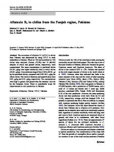 Aflatoxin B1 in chilies from the Punjab region ... - Semantic Scholar