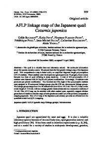 AFLP linkage map of the Japanese quail Coturnix ... - BioMedSearch