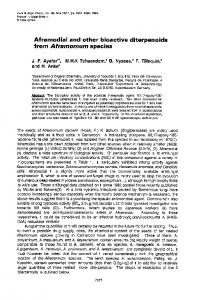 Aframodial and other bioactive diterpenoids from Aframomum species