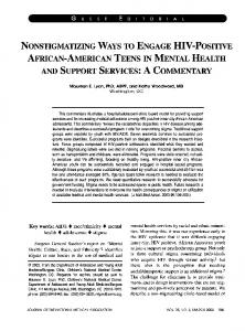 african-american teens in mental health and support ... - NCBI - NIH
