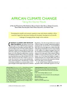 african climate change - CiteSeerX