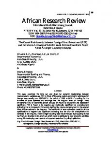 African Research Review - African Journals Online
