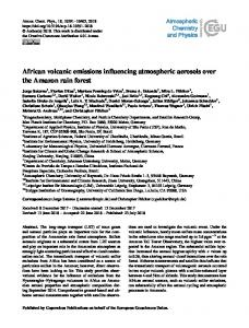 African volcanic emissions influencing ... - Atmos. Chem. Phys