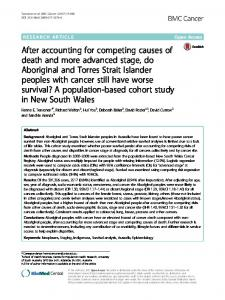 After accounting for competing causes of death and ... - BMC Cancer
