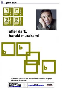 after dark, haruki murakami