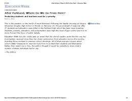 After Parkland, Where Do We Go From Here?