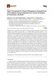 Ag2O Nanoparticles-Doped Manganese Immobilized