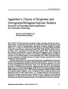 Agamben's Theory of Biopower and Immigrants/Refugees/Asylum ...