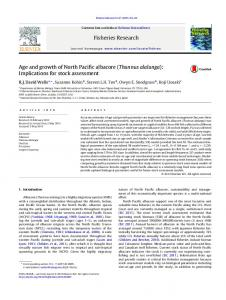 Age and growth of North Pacific albacore - Shark Biology and ...