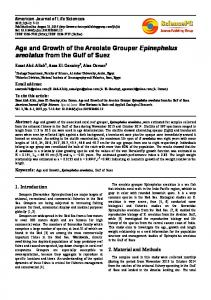 Age and Growth of the Areolate Grouper Epinephelus areolatus from ...