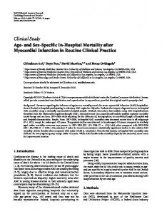 Age-and Sex-Specific In-Hospital Mortality after Myocardial Infarction ...