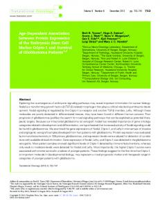 Age-Dependent Association between Protein Expression of the ...