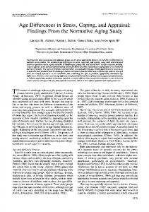 Age Differences in Stress, Coping, and Appraisal - The Journals of ...
