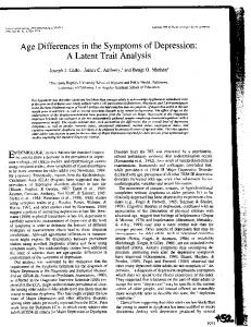 Age Differences in the Symptoms of Depression:
