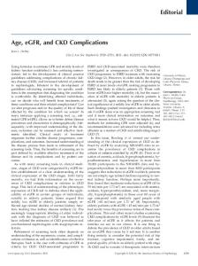 Age, eGFR, and CKD Complications Editorial
