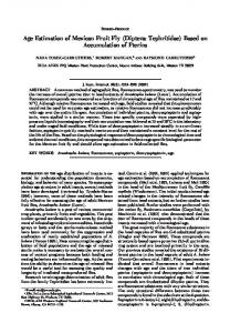 Age Estimation of Mexican Fruit Fly (Diptera ... - PubAg - USDA