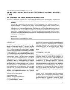 age related changes in lipid peroxidation and antioxidants ... - MedIND