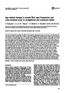 Age-related changes in muscle fiber type ... - Semantic Scholar
