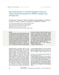 Age-related decrease in stimulated glutamate ... - Wiley Online Library