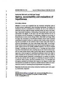 Agency, accountability and evaluations of impoliteness