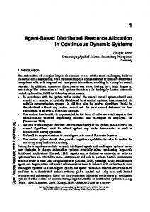 Agent-Based Distributed Resource Allocation in