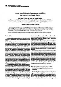 Agent-based integrated assessment modelling: the example of climate