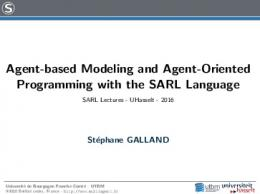 Agent-based Modeling and Agent-Oriented