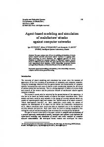 Agent-based modeling and simulation of