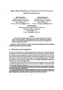 Agent-Based Modeling of Cognitive Double Auction Market Experiments